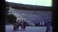1976: crowd touring a beautiful location. GREECE Stock Footage