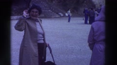1976: people on tour GREECE Stock Footage