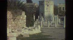 1976: fade into ancient greek building ruins GREECE Stock Footage