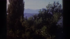 1976: landscape seen from the top of a terrace GREECE Stock Footage
