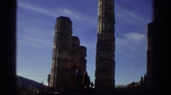 1976: ancient roman pillars in italy. GREECE Stock Footage