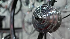 Spinning electric wheel for city bicycle Stock Footage