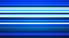 Broadcast Twinkling Horizontal Hi-Tech Bars, Blue, Abstract, Loopable, 4K Stock Footage