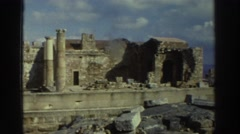 1976: ancient ruins of a city with buildings made of rock GREECE Stock Footage