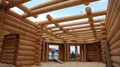 Wooden house Stock Footage