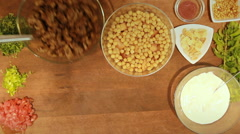 Food Ramadan recipes Fattet hummus is typically served as breakfast beef Stock Footage