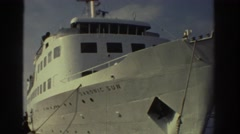 1976: passengers disembarking from a cruise ship GREECE Stock Footage