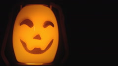 Halloween pumpking light big copyspace Stock Footage