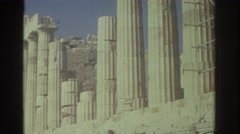1976: corinthian columns at the parthenon in greece. ISRAEL Stock Footage