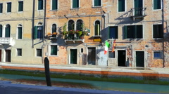 Canal Street of Venice. Excursion in Italian Venice Stock Footage
