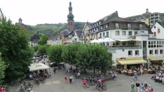 Cityscape of Cochem at Moselle river. Stock Footage