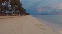 Evening beautiful beach in motion. Panglao Island. Philippines Stock Footage