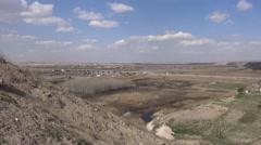 Syria: Destroy Jarabulus bridge, scene of Eufrat front, ISIS war, SDF (YPJ,YPG) Stock Footage