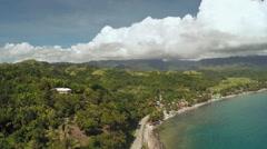 Philippine village near the coast Stock Footage