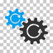 Cogs Rotation Vector Icon Stock Illustration