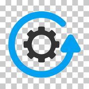 Gearwheel Rotation Direction Vector Icon Stock Illustration