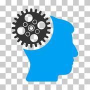 Head Gearwheel Vector Icon Stock Illustration