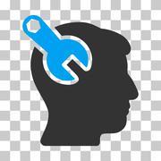 Head Neurology Wrench Vector Icon Stock Illustration