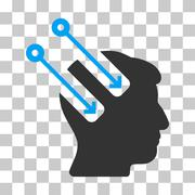 Neural Interface Vector Icon Stock Illustration