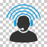 Operator Radio Signal Vector Icon Stock Illustration
