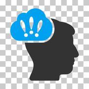 Problem Brainstorm Vector Icon Stock Illustration
