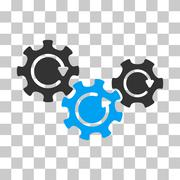 Transmission Gears Rotation Vector Icon Stock Illustration