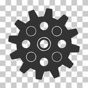 Gearwheel Vector Icon Stock Illustration
