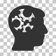 Mind Gears Vector Icon Stock Illustration