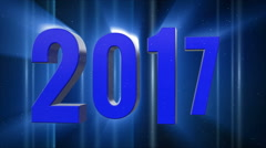Happy new year 2017 with lamps  generic BLUE Stock Footage