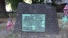 The grave of Samuel Adams in the Granary Burying Ground, Boston, MA. Stock Footage