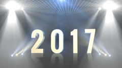 Happy new year 2017 generic Yellow Text Stock Footage