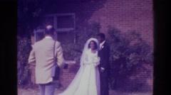 1975: newlyweds on their beautiful wedding day. BRONX NEW YORK Stock Footage