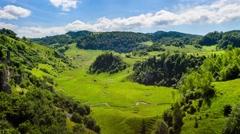 Fundatura Ponorului Timelapse, God's hand from Sureanu mountains, Transylvania Stock Footage