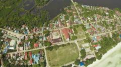 Aerial View Pablacio city. Anda. Bohol Stock Footage