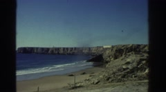 1976: distant view of the tides coming in on the sea. GREECE Stock Footage