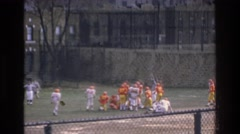 1975: football teams on field BRONX NEW YORK Stock Footage