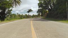 Village Road. Motion on motorbike. Philippines. Bohol island Stock Footage