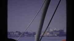 1975: a boat ride into a city port. BRONX NEW YORK Stock Footage