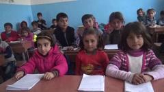 Syria, - February, 2016: School, SDF,ISIS war, SDF – YPJ,YPG Stock Footage