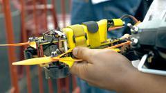 Modern handmade FPV drone in man's hands Kuvituskuvat
