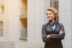 Smart woman achieving success in business Stock Photos