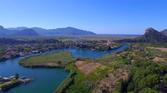 Dalyan Turkey Aerial View Stock Footage