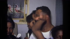 1976: a gathering among loved ones HARLEM NEW YORK Stock Footage