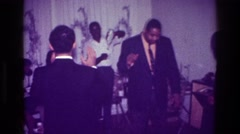 1976: dancing at a house party. HARLEM NEW YORK Stock Footage