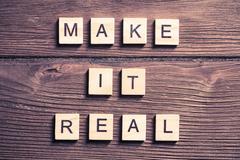 Make it real motivation Kuvituskuvat