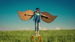 Imagination and freedom concept Stock Footage