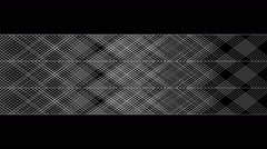 Flowing geometric pattern in graphic style - 01 - white on black (FULL HD) Stock Footage