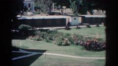 1962: sighting of a nice, freshly cut grass field. RHODES GREECE Stock Footage