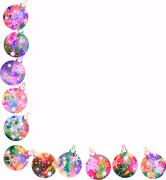 Watercolour Christmas Bauble Border Piirros