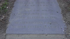 The grave of Joseph Shed in the Granary Burying Ground, Boston, MA. Stock Footage